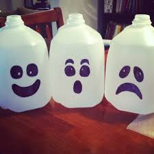 diy halloween milk jug ghosts fortitude in the journey