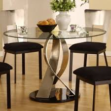 Round Dining Room Table And Chairs by Glass Round Dining Room Table