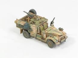 military jeep with gun long range desert group modelers section