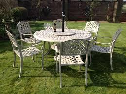 Cream Garden Bench Cast Aluminium Garden Furniture Sale Now On