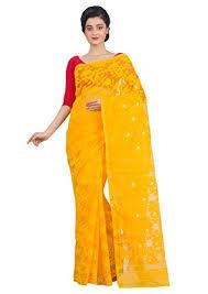 dhakai jamdani sarees yellow white dhakai jamdani saree buy collections page
