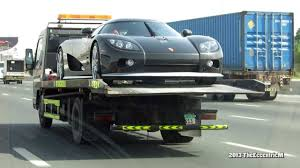koenigsegg dubai koenigsegg ccx on a flatbed tow truck in dubai youtube