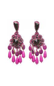 Pink Chandelier Earrings Chandelier Earrings By Etro Moda Operandi