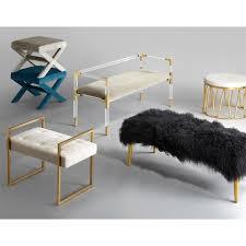 large mongolian lamb bench modern furniture jonathan adler