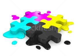cymk puzzle cmyk puzzle stock photo make 5396631 stockfresh