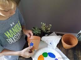 thumbprint flower pots crystalandcomp com