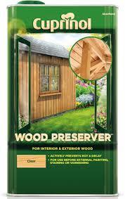 cuprinol clear wood preserver 5l departments diy at b u0026q