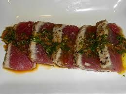 Main Dish With Sauce - seared ahi tuna with amazing sauce