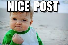 Post Meme - nice post success kid original meme on memegen
