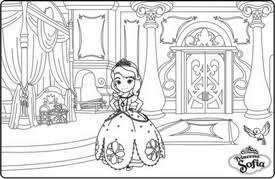 coloriage de chambre de fille coloriage a imprimer princesse sofia