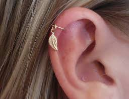 helix earing helix earring feather cartilage earring leaf cartilage earring