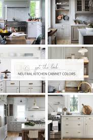 what paint color goes best with gray kitchen cabinets 8 great neutral cabinet colors for kitchens the grit and