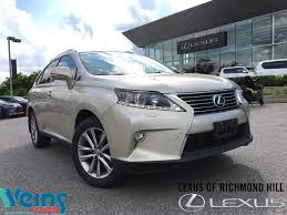 2015 lexus x350 used 2015 lexus rx 350 for sale richmond hill on