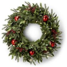 battery operated and berry wreath traditional