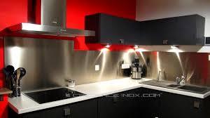 plaque inox pour cuisine plaque inox cuisine credence fastbo amazing mosaique carrelage