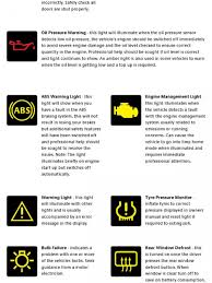 toyota car warning lights meanings safety measures for cars infographics visual ly
