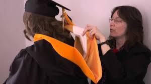 Graduation Drape For Photos How To Wear Graduation Hood Youtube