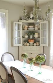 Corner Cabinet Dining Room Ironstone For Fall In Cute White Farmhouse Corner Cabinet Autumn