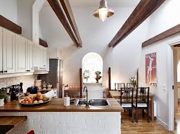 attic kitchen ideas beautiful small attic apartment in sweden with scandinavian