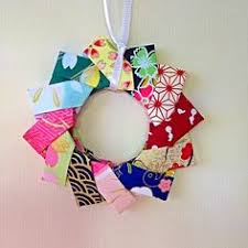 origami modular braided wreath picture and tutorial