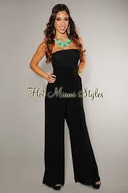 corset jumpsuit black corset strapless top jumpsuit