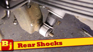 how to install rear shocks rough country youtube