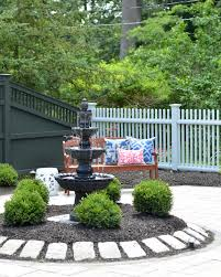 paver patio with a fountain the chronicles of home