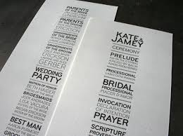 typical wedding program not your typical wedding invitation gbvideo