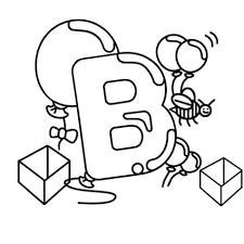 dessin ã colorier alphabet cp