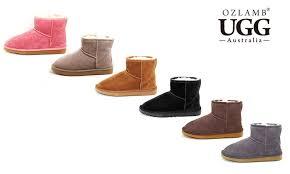 ugg boots australia groupon ozlamb ugg premium ankle boots groupon goods