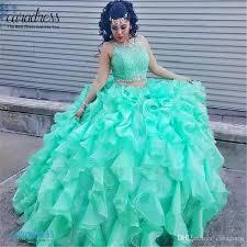 best quinceanera dresses 2017 princess mint lace quinceanera dresses two gowns