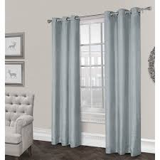 Burgundy Curtain Panels Rita Textured Grommet Curtain Panel Ice Blue 84 In At Home At