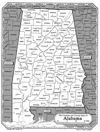 Map Alabama All About Genealogy And Family History Map Of Alabama Ancestry