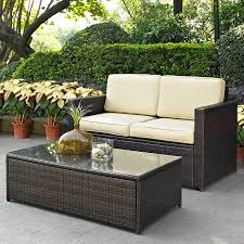 Wicker Patio Furniture Lowes - shop crosley furniture palm harbor 2 piece wicker patio