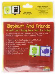 elephant and friends a soft and fuzzy book for baby friends