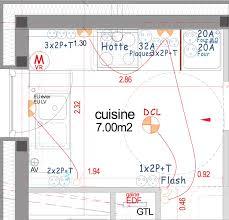 schema electrique cuisine le circuit spécifique des prises de courant de la cuisine