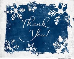 winter snowflakes thank you card custom design colors