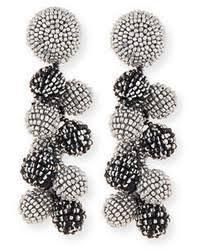 Beaded Chandelier Clip Earrings White Nakamol Gunmetal Beaded Chandelier Earrings Montana Mix Where To
