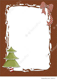 Christmas Tree Picture Frames Templates Plaid Christmas Frame Stock Illustration I1951513 At