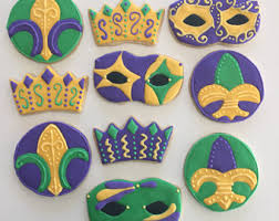 mardi gras cookies mardi gras cookies etsy