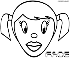 face coloring pages coloring pages download print