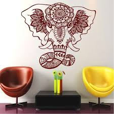 online get cheap buddha wall art sticker aliexpress com alibaba e435 elephant hamsa hand yoga fatima vinyl wall sticker home decor mandala buddha wall art decal