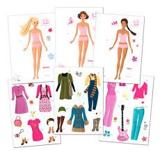 write college paper doll barbie