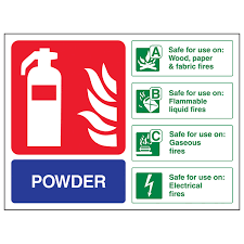 Fire Extinguisher Symbol Floor Plan Powder Fire Extinguisher Landscape Safety Signs 4 Less