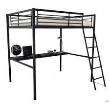 lit mezzanine noir avec bureau lit mezzanine bureau pas cher