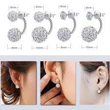 earrings styles aliexpress buy shamballa stud earrings fashion jewelry stud