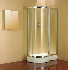 Bathroom Shower Kit by Bathroom Corner Shower Enclosure With White Acrylic Walk In