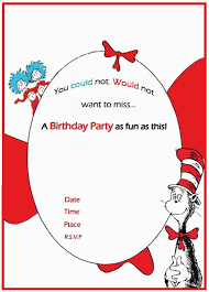 dr seuss birthday invitation free template invitations online