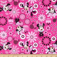 Pink Home Decor Fabric Disney Minnie Bowtique Minnie Allover Pink Discount Designer