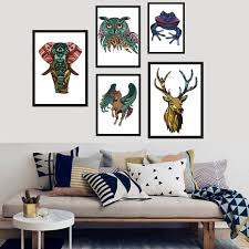 online buy wholesale canvas horse wall mural painting from china unframed triangle canvas painting horse animals wall sticker art artwork decoration living room home decor diy